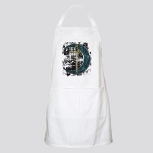Grunge Celtic Moon and Sword BBQ Apron