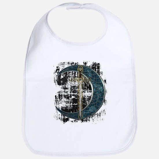Grunge Celtic Moon and Sword Bib