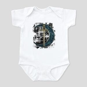 Grunge Celtic Moon and Sword Infant Bodysuit