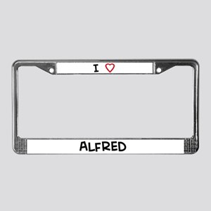 I love Alfred License Plate Frame