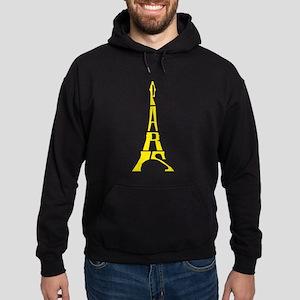 yellow eiffel tower Hoodie (dark)
