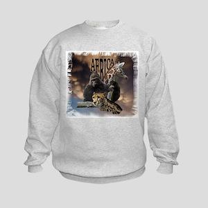 African Collage Kids Sweatshirt