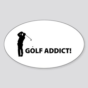Golf Addict! Oval Sticker