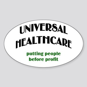 Universal Health Care Oval Sticker