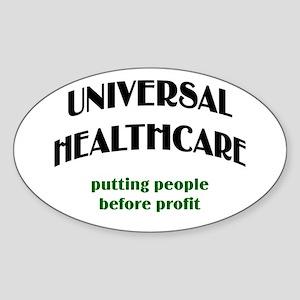 Universal Health Care Oval Sticker