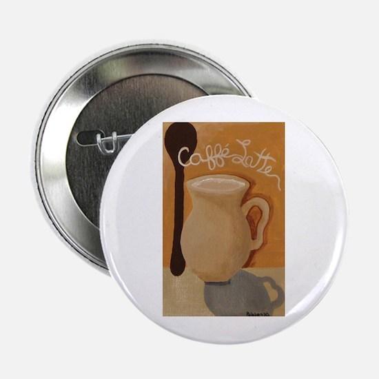 """Cafe Latte 2.25"""" Button"""