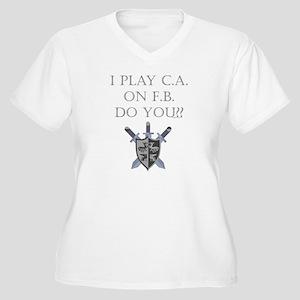 CA on FB Women's Plus Size V-Neck T-Shirt
