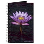 Purple Tropical Water Lily Journal