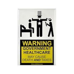 Healthcare Warning Rectangle Magnet