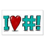 I Love CrunchBang sticker #2 by rfquerin (10 pk)