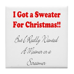 Sweater4Xmas Tile Coaster