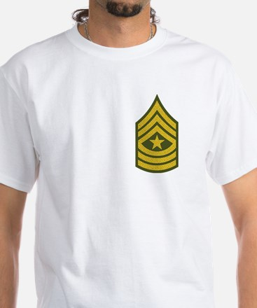 Sergeant Major White T-Shirt
