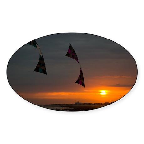 Sunset Revs Oval Sticker (10 pk)