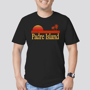 South Padre Island Men's Fitted T-Shirt (dark)