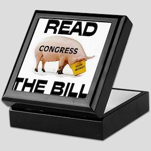 READ THE BILL ! Keepsake Box
