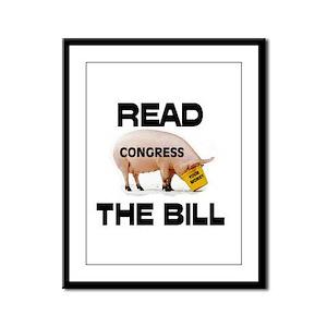 READ THE BILL ! Framed Panel Print