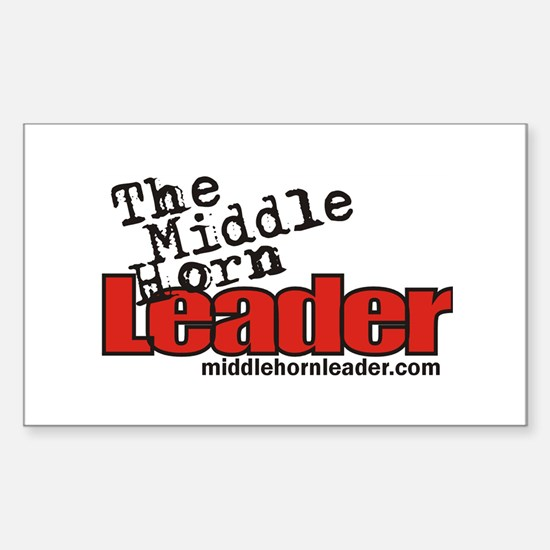 The Middle Horn Leader Rectangle Decal