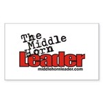 The Middle Horn Leader Rectangle Sticker