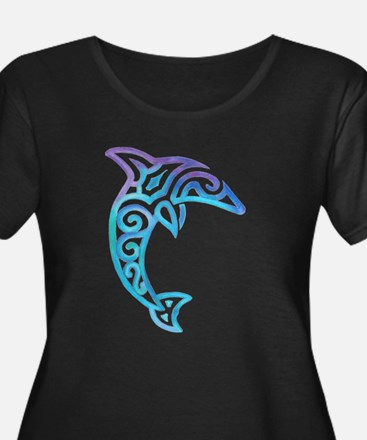 Tribal Dolphin Plus Size T-Shirt
