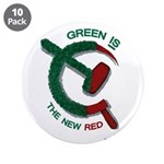 """Green is the New Red 3.5"""" Button (10 pack)"""