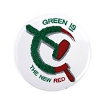 """Green is the New Red 3.5"""" Button"""