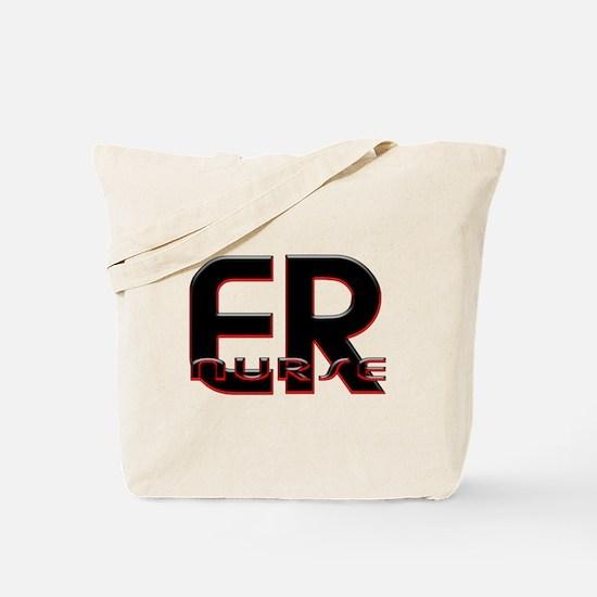 ER NURSE RED GLOW 2 Tote Bag
