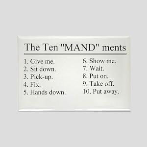 10 meandments Rectangle Magnet