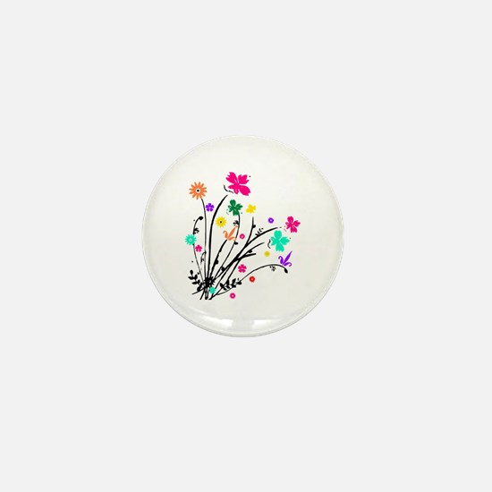 'Flower Spray' Mini Button