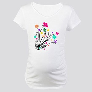 'Flower Spray' Maternity T-Shirt