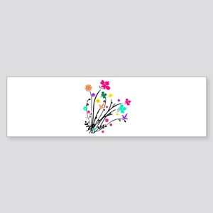 'Flower Spray' Bumper Sticker