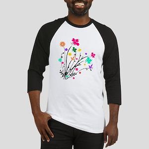 'Flower Spray' Baseball Jersey