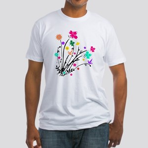 'Flower Spray' Fitted T-Shirt