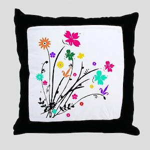 'Flower Spray' Throw Pillow