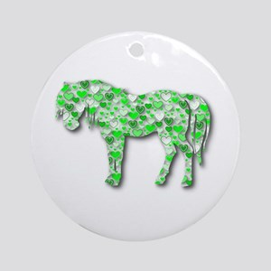 HeartHorse - Lime Ornament (Round)