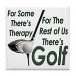 Golf Therapy Tile Coaster
