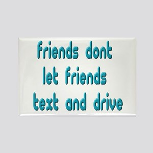 Text Friends Rectangle Magnet
