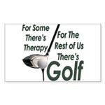 Golf Therapy Rectangular Sticker