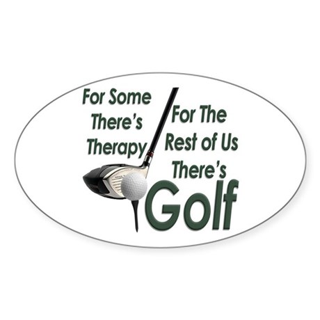 Golf Therapy Oval Sticker