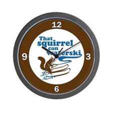 That Squirrel Can Waterski Wall Clock