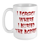 Hiding Bodies Large Mug
