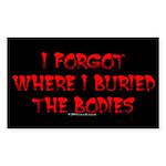 Hiding Bodies Rectangle Sticker
