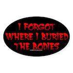 Hiding Bodies Oval Sticker