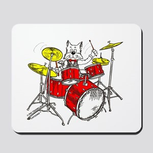 Drums Cat Mousepad