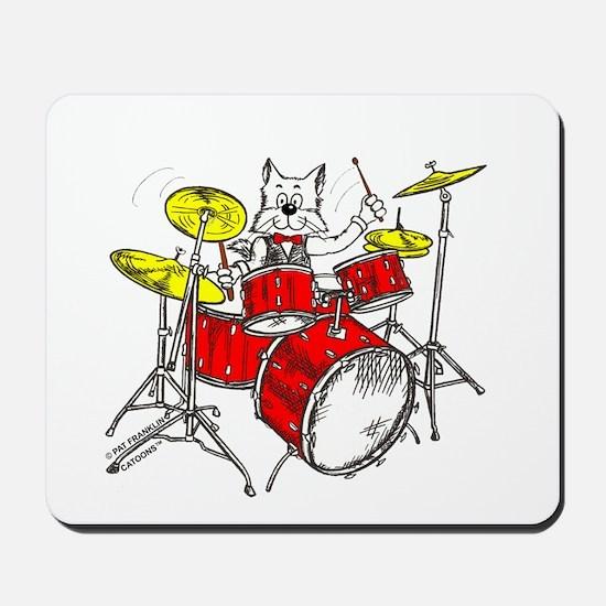 Drums Cat Mousepad