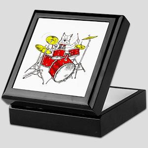 Drums Cat Keepsake Box