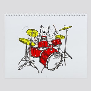 Drums Cat Wall Calendar