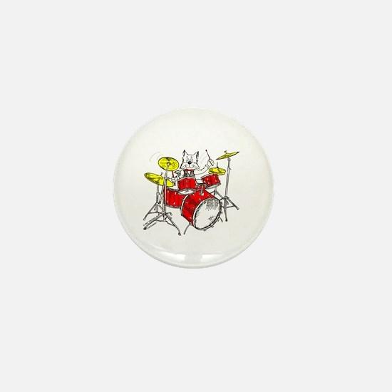 Catoons™ Drums Cat Mini Button