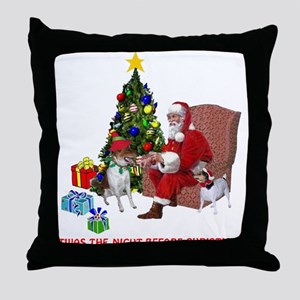 TWAS THE NIGHT BEFORE CHRISTM Throw Pillow