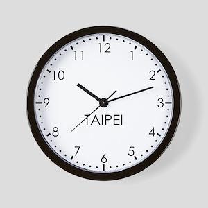 TAIPEI Modern Newsroom Wall Clock