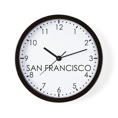 SAN FRANCISCO Modern Newsroom Wall Clock